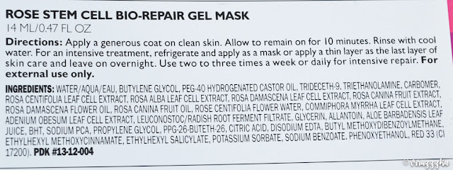 Peter Thomas Roth Rose Stem Cell Bio Repair Gel Mask Review Ingredients