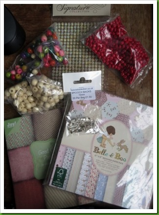 mixture f craft stash goodies