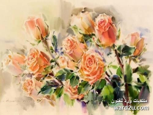 زهور الطبيعة فى لوحات مائية للفنان  Oleg Timoshin