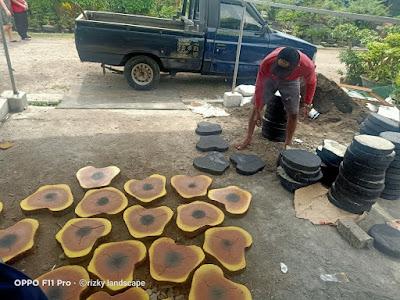 Tukang taman Surabaya Jual step stone