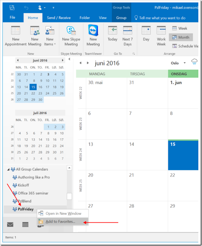 Tech and me: How to favorite a Groups calendar for easier