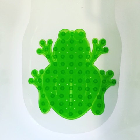 Mommys helper frog bath mat