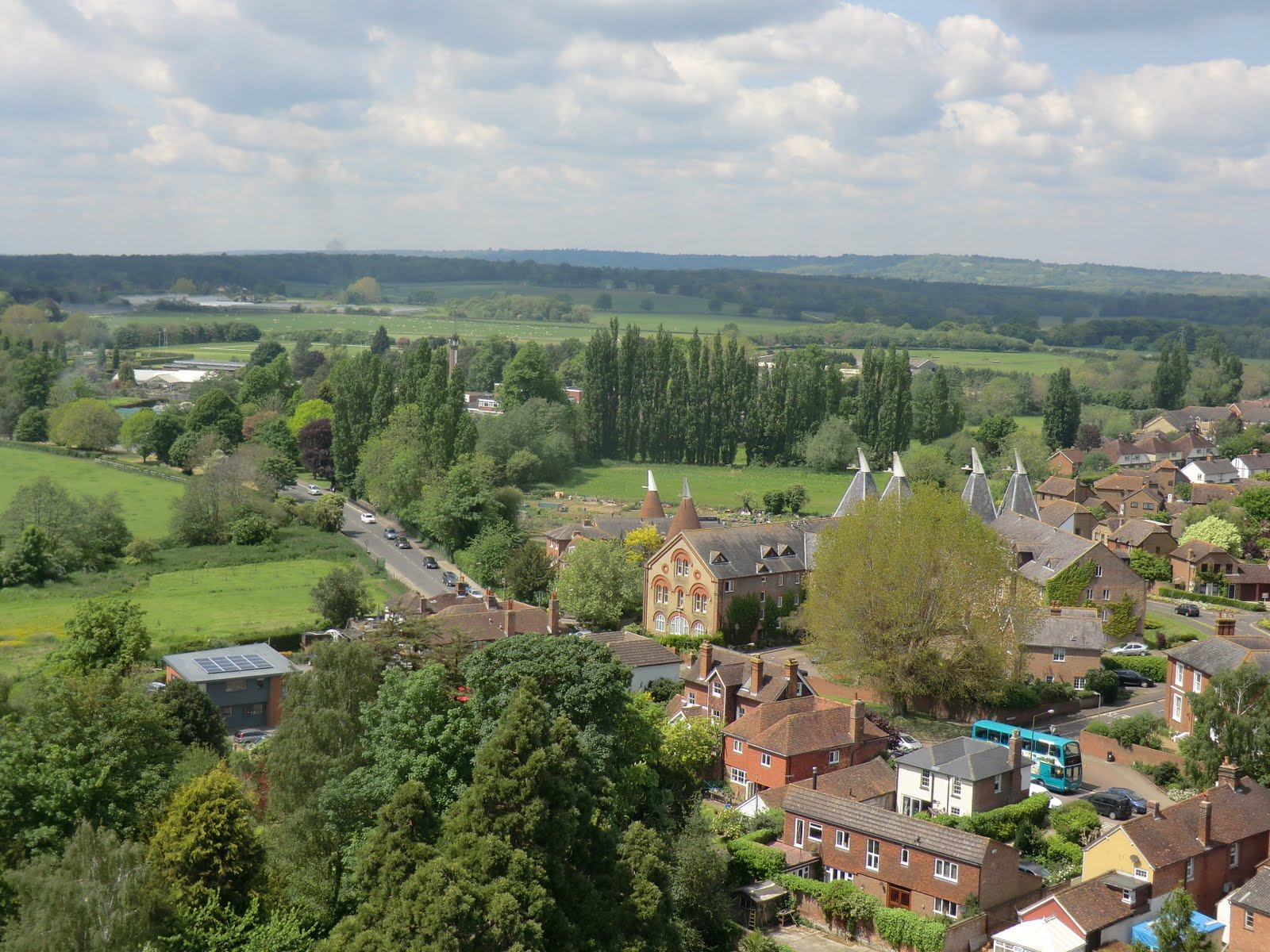 CIMG1125 View west from Hadlow Tower
