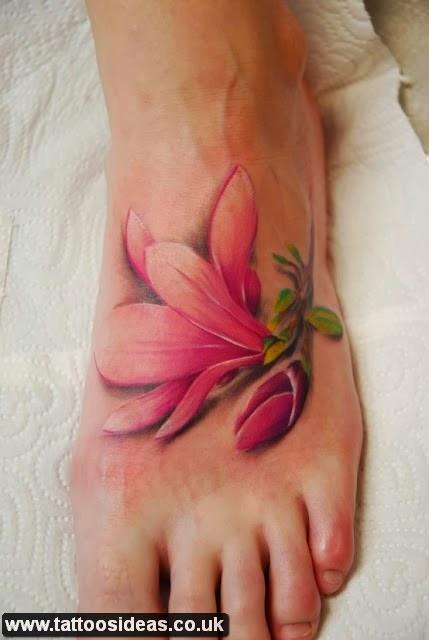 7b945d6ed aeceecbbbce UMARK · abddddaebaadfa UMARK · D%pink%color%lily%tattoo%on%foot  - tattoos ideas ...