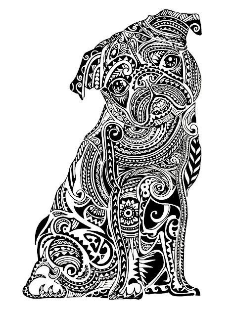 Colorear Gratis Colorearadultodifcilpocobuldog Un Bulldog Lindo   Animal Coloring Pagescoloring