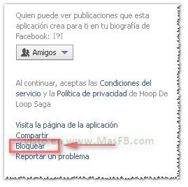 Bloquear Aplicación de Facebook