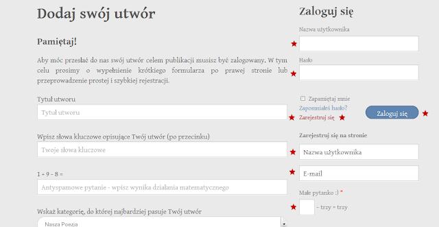 Tyska Strona Poezji - Regulamin