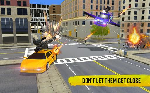 Flying Car Shooting Game: Modern Car Games 2020  screenshots 16
