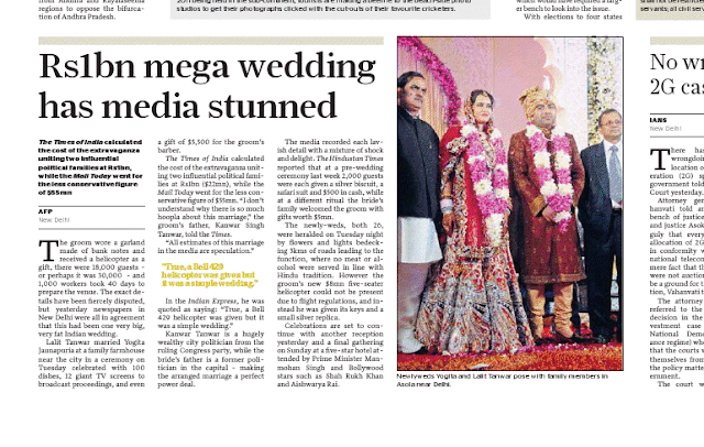 $55mn simple wedding in India