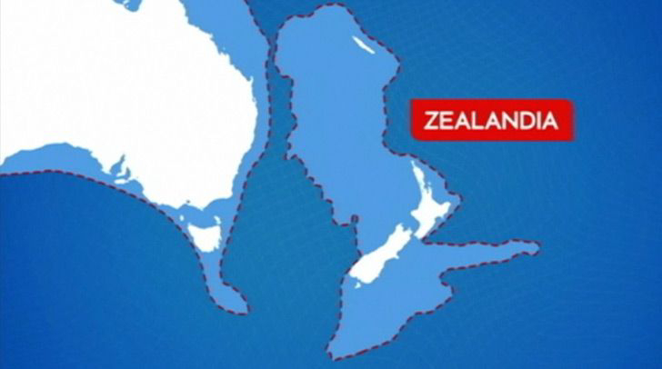 New Zealand is actually part of a much bigger, sunken landmass.