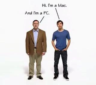 Old Mac vs PC Advertisement Guys