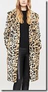 Kendall & Kylie Leopard Print Faux Fur Coat