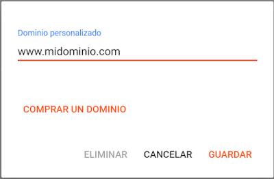 Blogger: Dominio personalizado