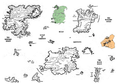 Fantasy Game Book: The Geography of Titan!