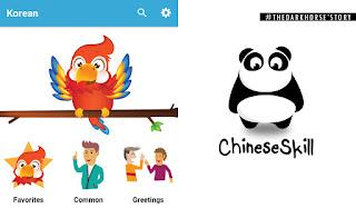 Belajar bahasa Korea and China