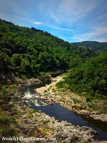 French Village Diaries Train de l'Ardeche Dolce Via cycling France