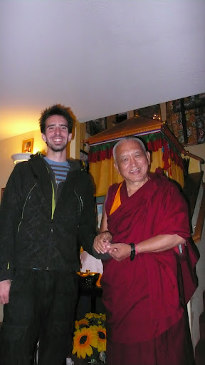 Lama Zopa Rinpoche and Osel in California, USA April 2010