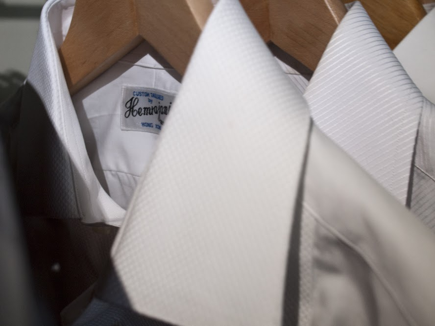All three MyTailor dress shirts in a row.