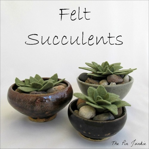 Felt Succulents by The Pin Junkie