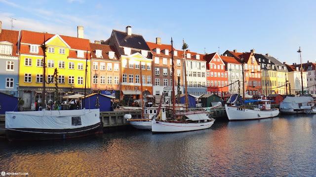 nyhavn in copenhagen in Copenhagen, Copenhagen, Denmark