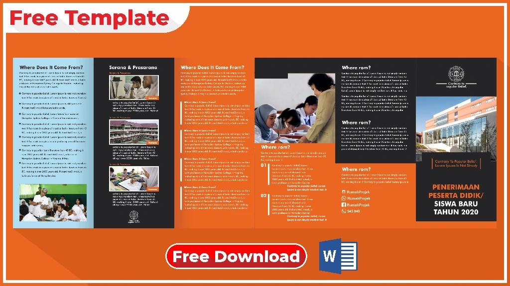 Download Brosur Sekolah Format Word