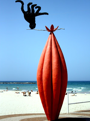 Sculpture by the beach in Tel Aviv Israel