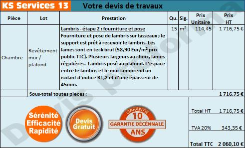 Devis Lambris  Neuilly-sur-Marne ▷ Prix : PVC, Bois, Pin, Mdf