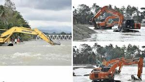 Normalisasi Sungai Masamba 19 Alat Berat Diturunkan
