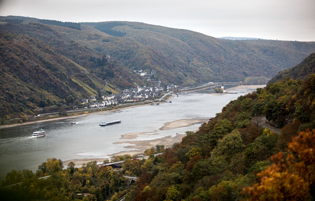 In October 2018, one of the longest dry spells on record has left part of the Rhine in Germany at record-low levels for months, forcing freighters to reduce their cargo or stop plying the river altogether. About half of Germany's river ferries have stopped running, according to the Federal Waterways and Shipping Administration. Photo: Gordon Welters / The New York Times