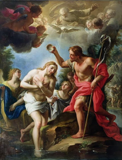 Francesco Trevisani - The Baptism of Christ, 1723
