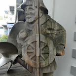 wooden sailor in Vancouver, British Columbia, Canada
