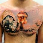 nuke bomb - Chest Tattoos Designs