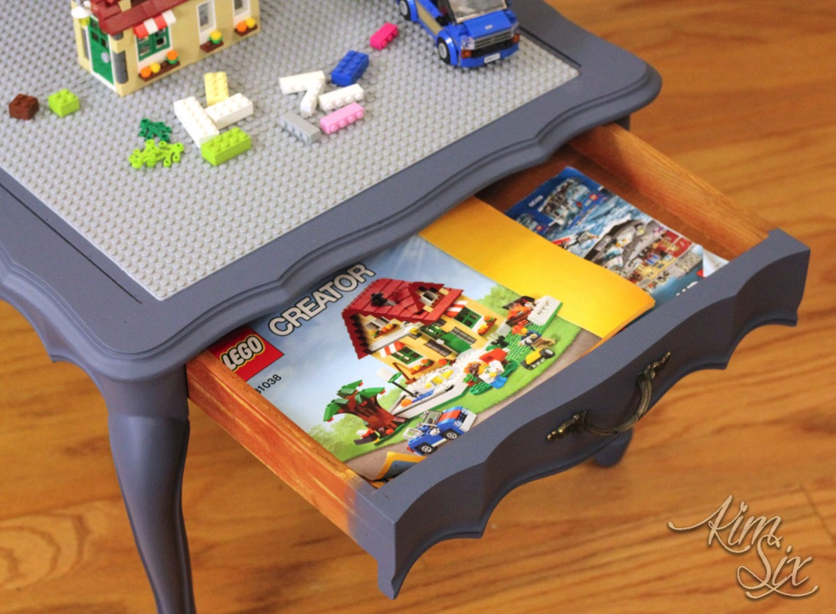 Lego instructions storage drawer