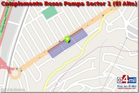 Complemento Rosas Pampa Sector 1: zona del Distrito 1 de El Alto