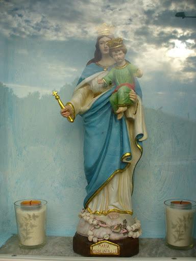 La statuetta dell'Ausiliatrice ritrovata e restaurata