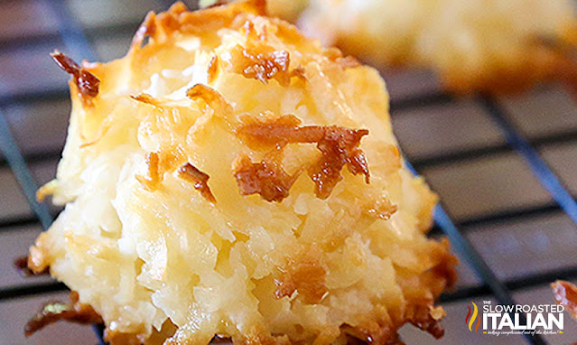 close up photo of coconut macaroons