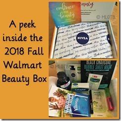 Walmart 2018 Fall Beauty Box
