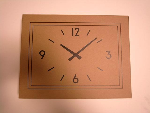駅の時計ダンボール可愛い感想