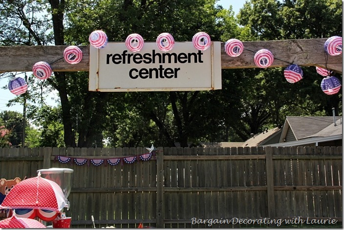 4th of July refreshment center