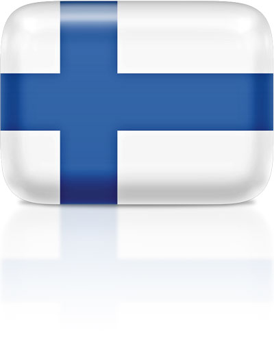 Finnish flag clipart rectangular