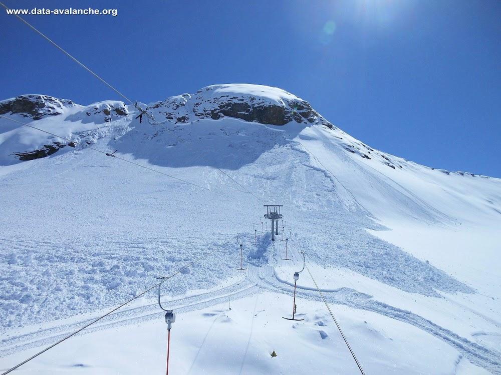 Avalanche Haute Tarentaise, secteur Pointe du Montet, Glacier du Grand Pisaillas - Val d'Isère - Photo 1