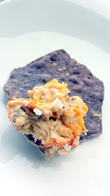 Mexican Street Corn Dip recipe served with Food Should Taste Good Blue Corn, all natural, gluten free, and non GMO