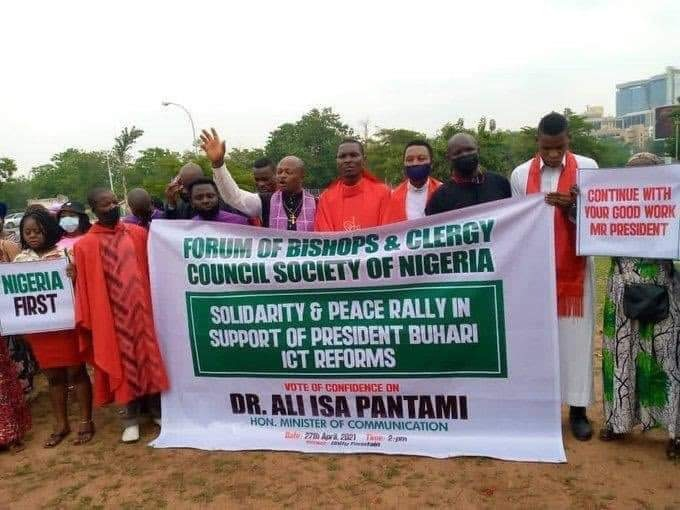 Forum Of Bishops' Holds Solidarity Rally For Pantami (Photo)