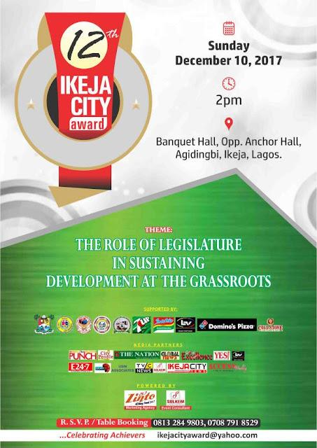 12th Ikeja city award hold on Sunday 10th, December
