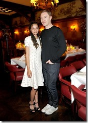 HOLLYWOOD, CA - MARCH 30:  Actor Sasha Lane (L) and Coach Creative Director Stuart Vevers attend the Coach & Rodarte celebration for their Spring 2017 Collaboration at Musso & Frank on March 30, 2017 in Hollywood, California  (Photo by Donato Sardella/Getty Images for Coach)