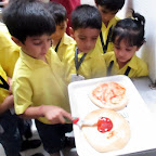 Pizza Baking Activity (Jr.KG.) 31-7-2015