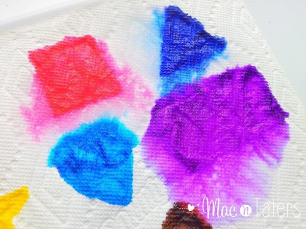 Paper Towel Fine Motor Shape Art