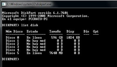 Crear pendrive booteable o arrancable en Windows 7