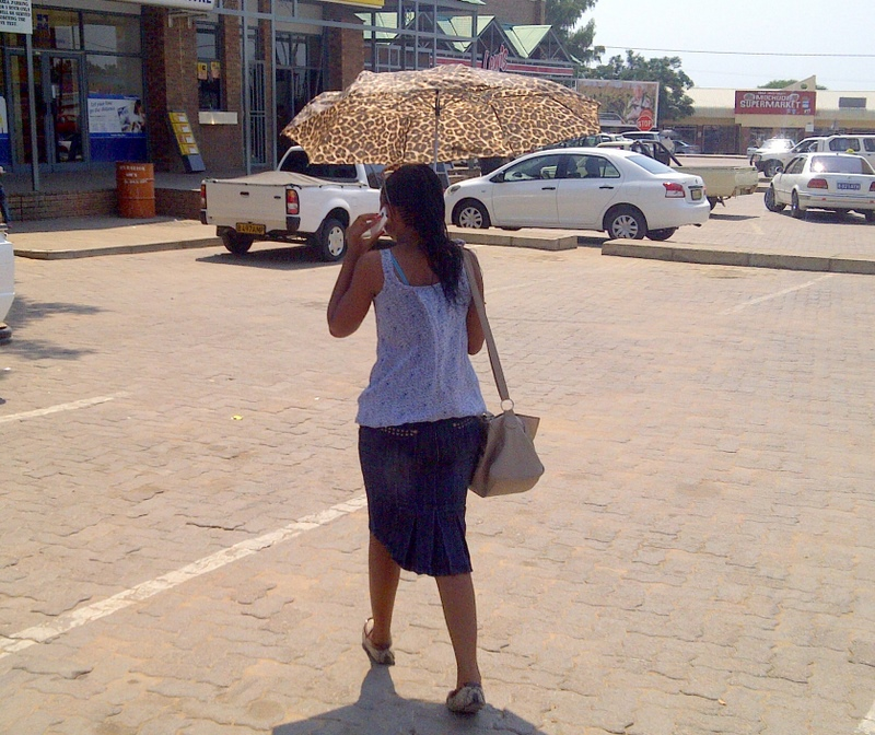 In Africa umbrellas are for the sun