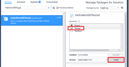 Sharing your Service Fabric services as NuGet packages